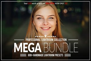 80%OFF!!! 800+ Lightroom Mega Bundle