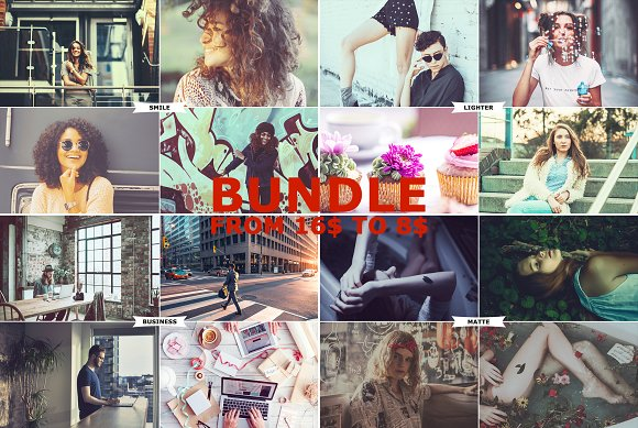 4 IN 1 Photoshop Actions Bundle MAY2