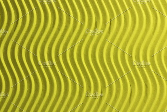 Embossed Waves Yellow Paper Texture