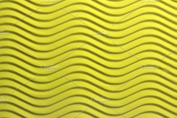 Yellow Paper Waves Texture