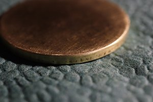 Clean Bronze Coin. Blank Surface.