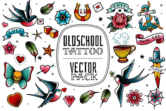 Old School Tattoo Vector Pack