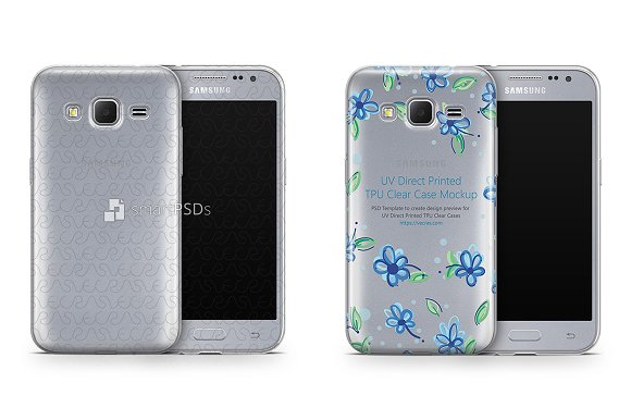 Galaxy Core Prime UV TPU Clear Case
