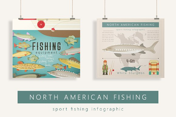 Set Of Fishing Infographic Posters