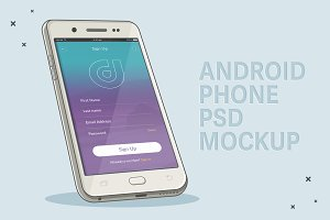 Illustrated Cell Phone Mockup