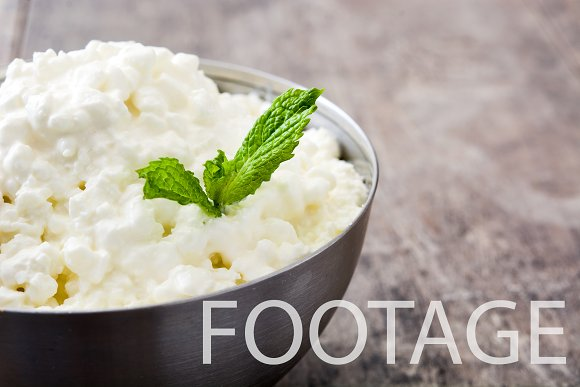Fresh Cottage Cheese Footage