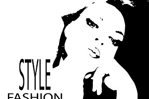 Vintage style and fashion poster