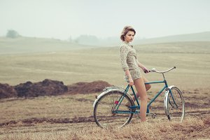 beautiful girl cyclist