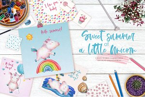 Sweet Summer of a Little Unicorn set