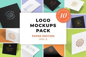 Logo Mockups Pack. Paper Ed. Vol.2