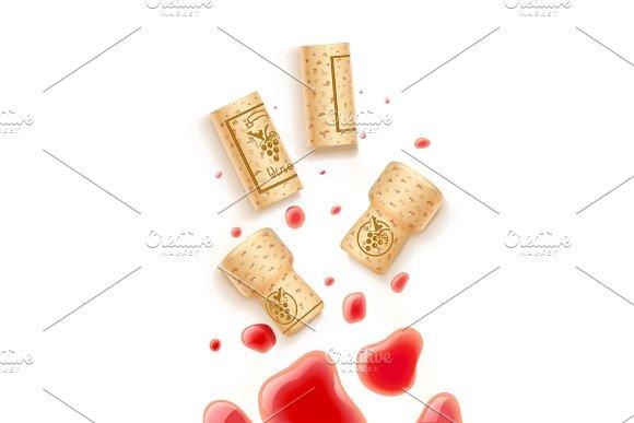 Grapes Wine Bottle Cork And Beverage