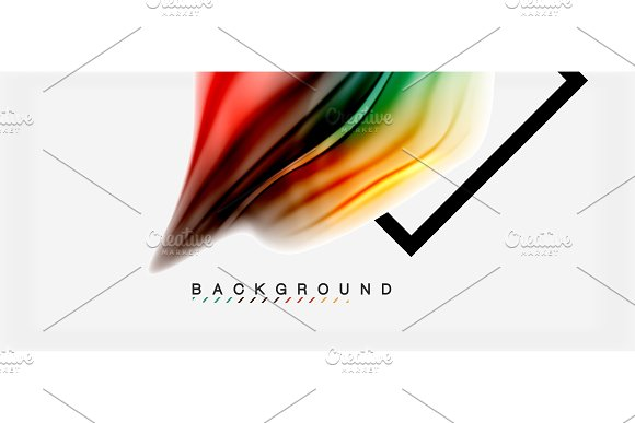 Blurred Fluid Colors Background Abstract Waves Lines Vector Illustration