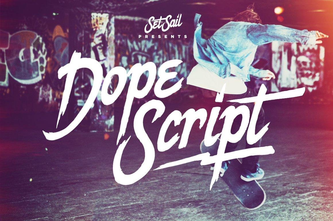 Dope Script ~ Display Fonts ~ Creative Market