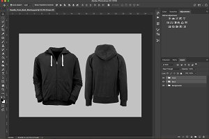 Hoodie Front & Back PSD Mockup