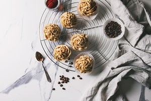 Homemade coffee cupcakes