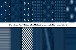 Dotted/striped seamless patterns