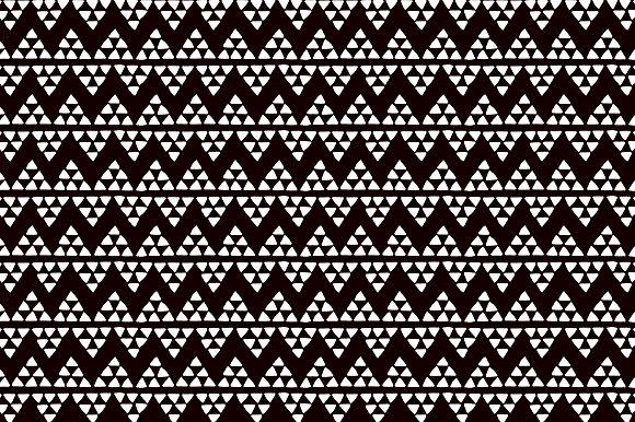 Ethnic Triangles Black Pattern
