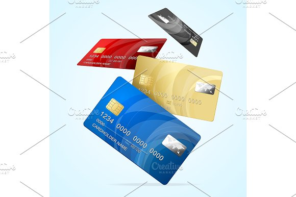 Business Credit Plastic Card Set