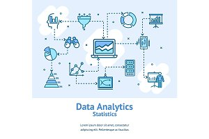 Data Analytics Statistics Banners