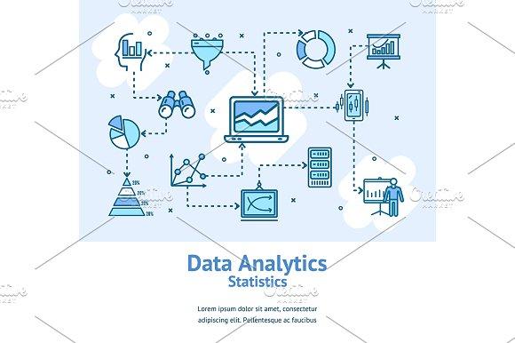 Data Analytics Statistics Banners