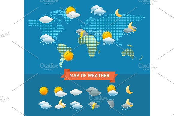 Map Of Weather With Icons