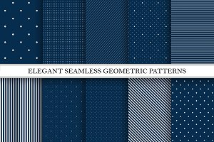 Geometric seamless elegant patterns