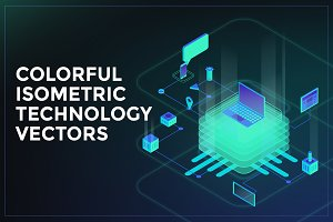 Colorful Isometric Technology Vector