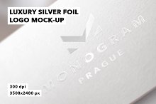 Luxury Silver Foil Logo Mockup Badge