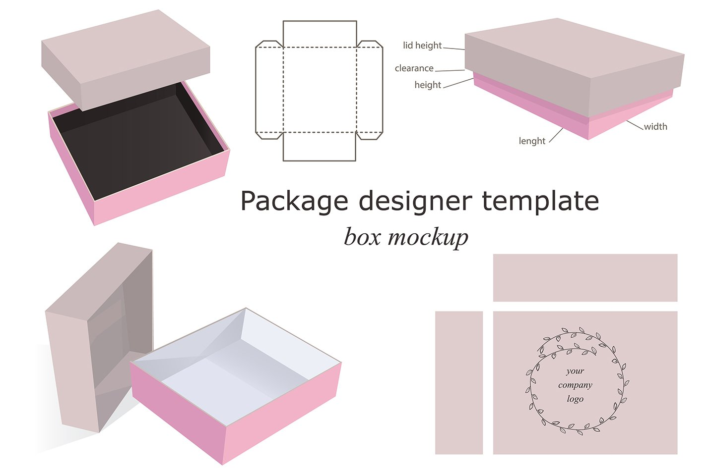 Box Mockups Collection Product Creative Market