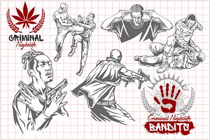 10 illustrations - Bandits.