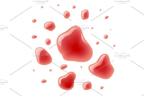 Red Wine Splash Bloody Spots