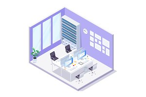 Isometric office.