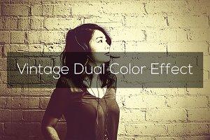 Vintage Dual Color Effect