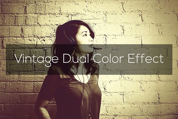 Vintage Dual Color Effect