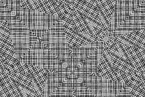 Linear Intricate Geometric Seamless Pattern