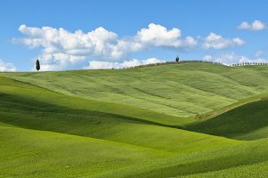 Tuscan Val d'Orcia background
