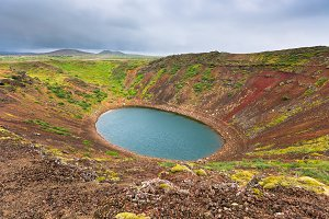 Kerith Volcano Crater in Iceland