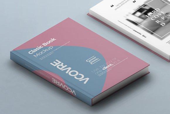 Book Hard Cover Mockup 8