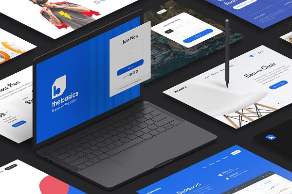 Website Templates: Pixelbuddha - The Basics Web UI Kit
