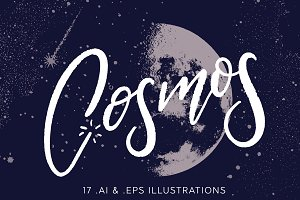 COSMOS | 17 Space-Themed Vectors