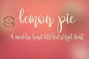 Lemon Pie Hand Lettered Script Font