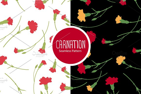 Carnation Flowers Pattern