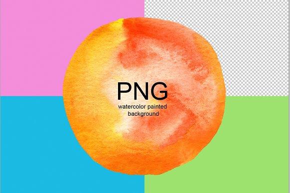 PNG Abstract Circle Watercolor