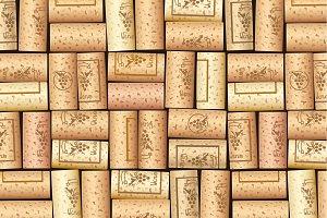 Wine bottle cork. Pattern