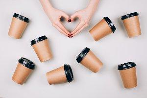 Loving coffee concept.