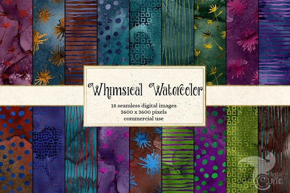 Whimsical Watercolor Patterns