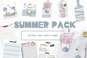 Summer pack, planner, pattern