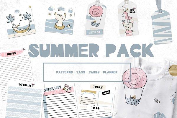 Summer pack, planner, pattern