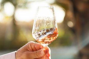 Wine tasting. Rose