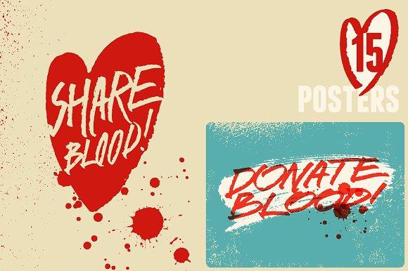 Blood Donation Vintage Poster
